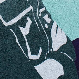 Cruz no mural