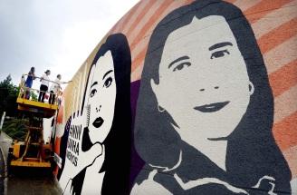 Imaxe mural de Cruz e Lupita